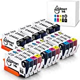 Smart Ink Compatible Ink Cartridge Replacement for Canon PGI 250 PGI-250 XL CLI 251 CLI-251 (6PGBK &3BK/C/M/Y 18 Pack Combo) for Pixma MG5420 MG5520 MG5620 MG6620 MG7520 iP7220 iP8720 iX6820 MX722 MX