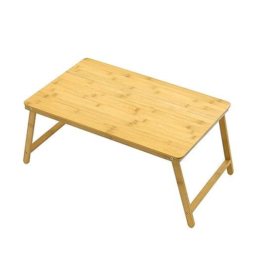 Mesa Plegable Mesa de computadora portátil de bambú 100% Bambú ...