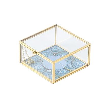 JEWELRY Bandeja de cristal para joyas, organizador de joyas, decoración del hogar, boda