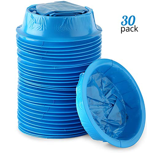 (Premium Emesis Vomit Bags 30-Pack | Disposable Blue Leakproof Vomiting Bag Set for Car, Motion, Sea & Air Sickness | Convenient Ring Closure System| Perfect for Pregnant Women& Sick Children )