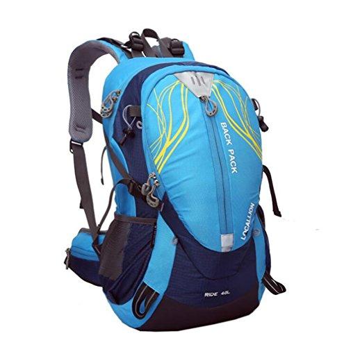 Wmshpeds Montañismo bag 40L bolsa para hombro soporte exterior escalada mochila al hombro impermeable mochila equitación deportes D