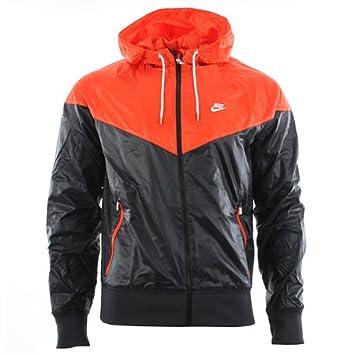 56d1beb32415 Nike Windrunner Jacket 340869-29 Men Windbreaker Black - -  Amazon ...