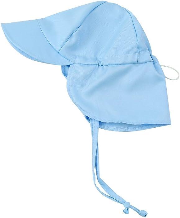Baby Sun Hat Boy Beach Hats Girl Swim Summer Toddler Neck Face Flap Cover  Kids Caps UV Protection 1c5b9324542
