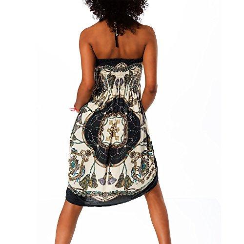 colorato donna H112 dell'abito Bandeau Aztec estivo 0FxfIxqw