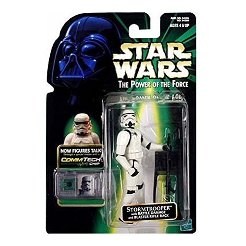 Star Wars Power of the Force Comm Tech Stormtrooper Action Figure]()
