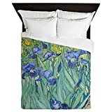 CafePress - Irises By Vincent Van Gogh - Queen Duvet Cover, Printed Comforter Cover, Unique Bedding, Microfiber