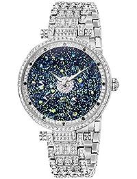 StarrySky Luxury Watch Women Premium Austria Diamond Crystal Accented & Platinum Plated Stainless Steel Watch...