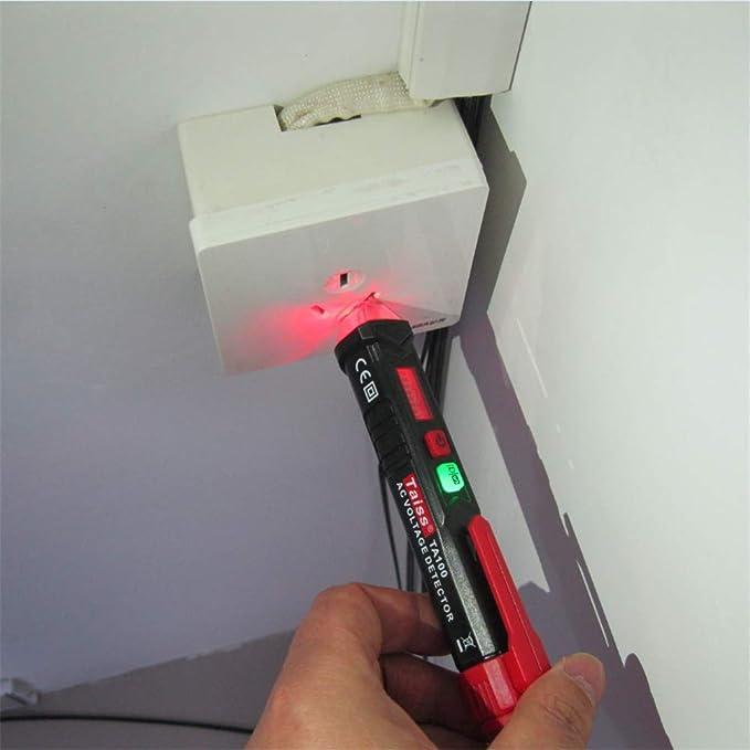 Lezed Buscapolos El/éctrico Pluma de Detector de Voltaje El/éctrico sin Contacto Comprobador Tensi/ón Tester Electrico Voltaje AC 90-1000V 2 piezas