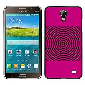 Caucho caso de Shell duro de la cubierta de accesorios de protección BY RAYDREAMMM - Samsung Galaxy Mega 2 - Las ondas de sonido Pink Música Disco de vinilo