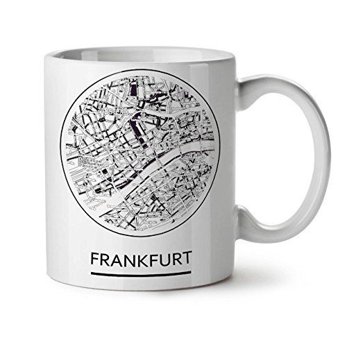 Germany Frankfurt Big White Tea Coffee Ceramic Mug 11 oz | ()