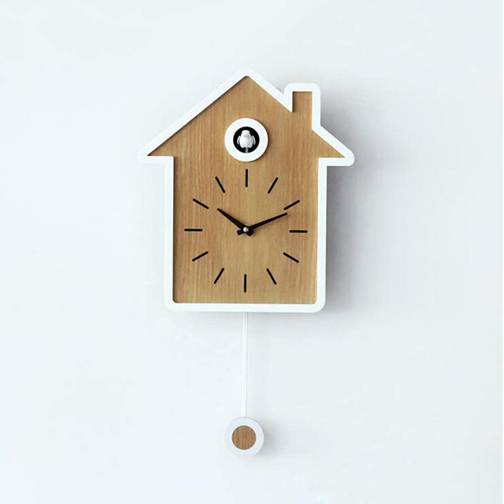 with Cute Bird Home Decoration Simple Natural Design Wall Art Home Living Room Kitchen Office Decoration,Blue GAOJIN Clock Cuckoo,Natural Bird Voices Or Cuckoo Call
