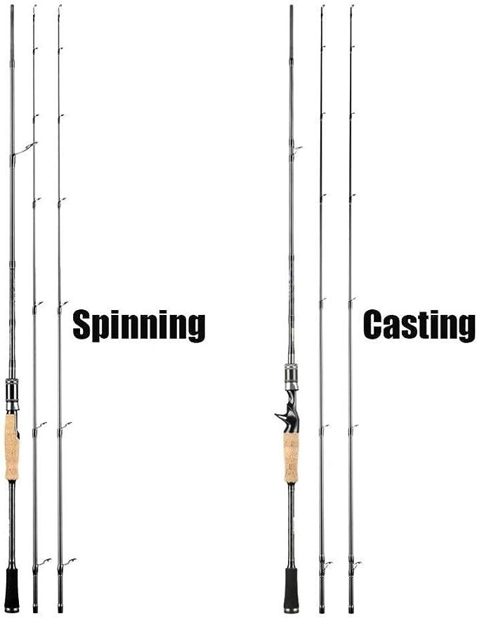 Caña de Pescar Se1.98M 2,1 m 2,4 m 2 Tapas de Extremo M & ML M ...