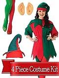 BirthdayExpress Elf Costume Jingle Dress Womens Complete Costume Kit - Standard