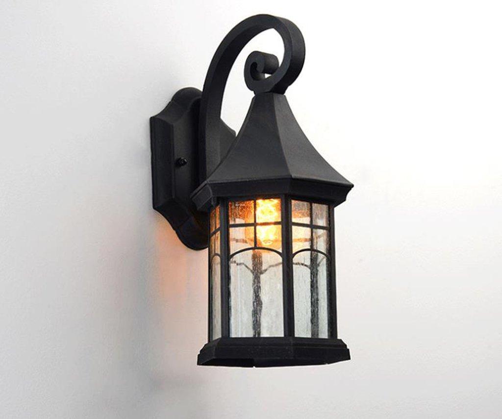 GKJ Outdoor-Wandleuchte imprägniern im Freienlampen-Patio-Balkon Treppen-Außenwand-Wand-Lampe (Farbe   A)