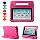 TIRIN All-New Fire HD 10 2017 Tablet Case – Super Light Weight Shock Proof Handle Kid-Proof Cover Kids Case for All-New Fire HD 10.1 Inch Tablet (7th Generation, 2017 Release), Rose