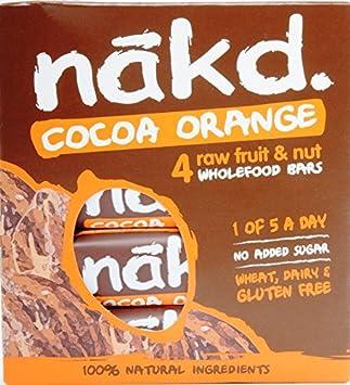 Nakd barras chocolate naranja - sin azucar, sin gluten, sin ...