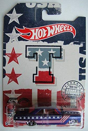 Hot Wheels STARS AND STRIPES SERIES 50TH EDITION, BLUE CHEVY NOVA 3/10 (Anniversary Stripes)