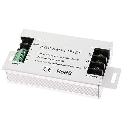 Homyl Cc 12v 24v Signal 3 Canal Rgb Amplificateur Sans Fil