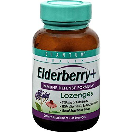 2Pack! Quantum Elderberry Lozenges Raspberry - 36 Lozenges