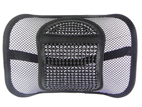 Price comparison product image Go Lumbar Support / Extra Comfortable Adjustable Breathable Black Mesh Lumbar Back Cushion Support Fit All Types Office Chair Car Seat / Perfect Solution for Fatigue Back Pain Poor Posture Soreness