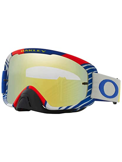 8383ca7ce85 Amazon.com  Oakley O2 MX Bio Hazard Men s Dirt MotoX Motorcycle Goggles  Eyewear - White 24K Iridium + Clear   One Size Fits All  Automotive