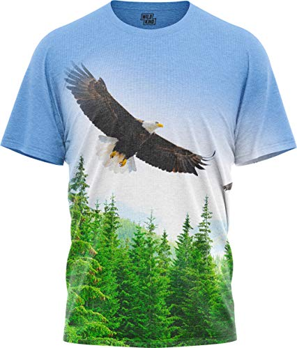 Men Women's Graphic T Shirts Short-Sleeve Blad Eagle Print T-Shirt Wildkind (Eagle Long Sleeve Shirt)