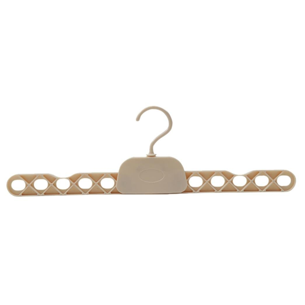 Yezijin Clothes Rack,Hanger, Travel Portable Folding hangers Drying Rack Easy Storage (Beige)
