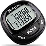 3DActive 3D Pedometer PDA-100| Best Pedometer for Walking with 30-Days Memory. Accurate Step...