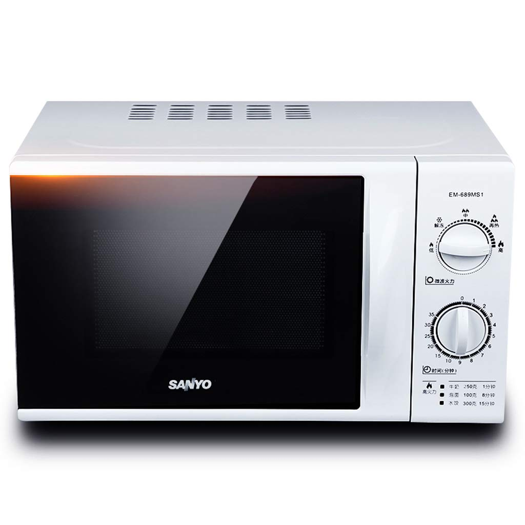 Mini Rotary Microwave Oven, 700W Compact Smeg Roaster Convection Oven For Home, 0.7 Cu. Ft Small Portable Microwave, Stainless Steel, White, Black