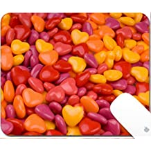 Luxlady Gaming Mousepad Red orange and yellow candy hearts in a pile 9.25in X 7.25in IMAGE: 2123704