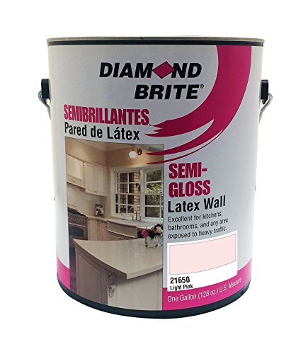 Diamond Brite Paint 21650 1-Gallon Semi Gloss Latex Paint Light Pink - Paint Bedroom