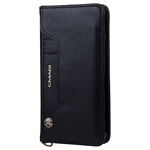 Leather Wallet Phone Case with Flip Cover Credit Card Slot for iPhone 6/6S/6Plus/6S Plus/7/7Plus