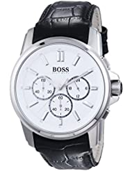 Hugo Boss 1513033 - Mens Wristwatch, Leather, color: Black