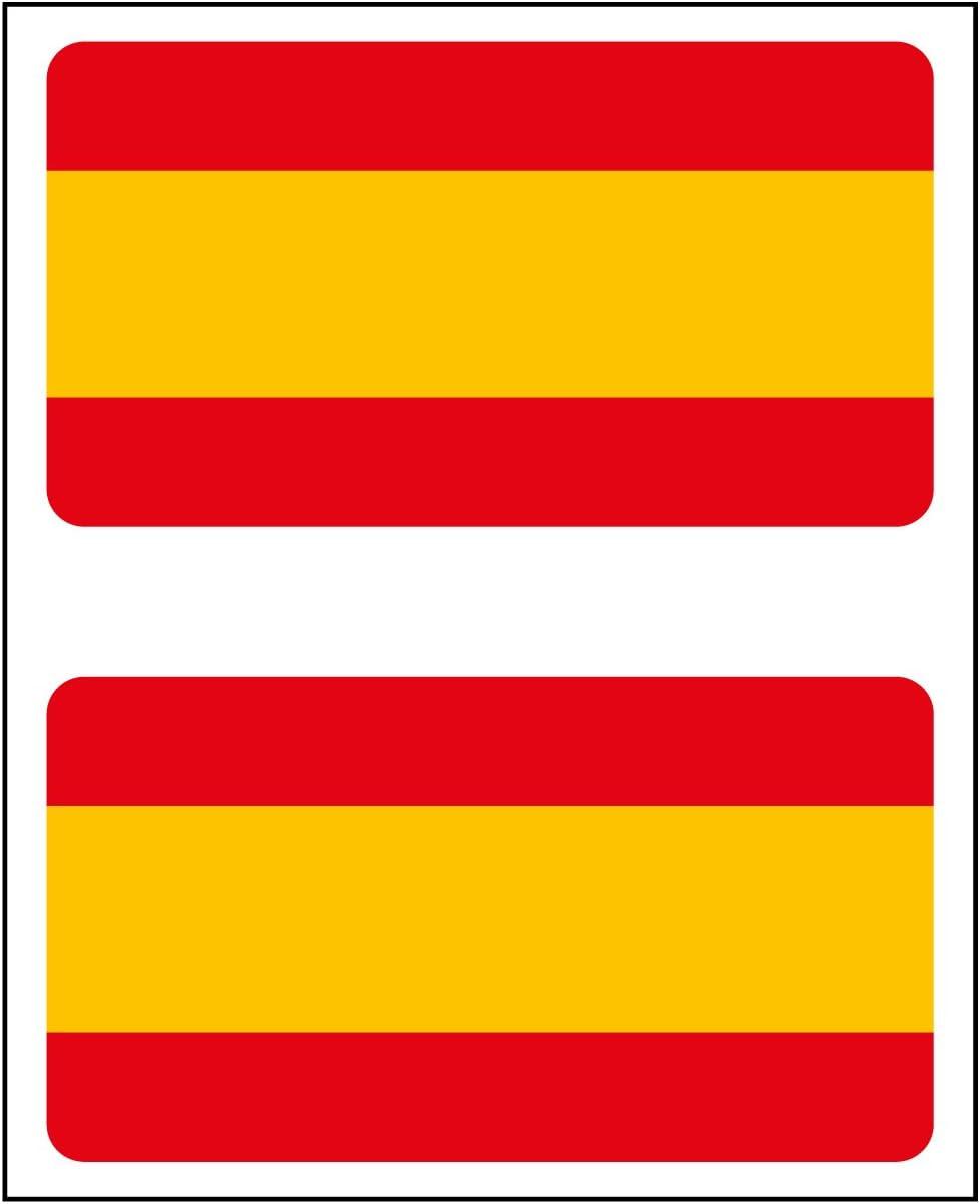 Artimagen Pegatina Bandera Rectángulo 2 uds. España 48x26 mm/ud ...