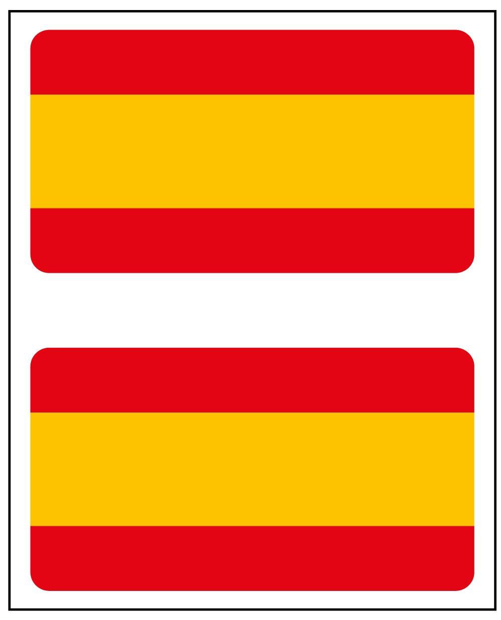 Adesivo Bandiera Rettangolo 2/uds Spagna