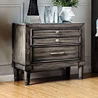 Furniture of America CM7556N Daphne Gray Nightstand