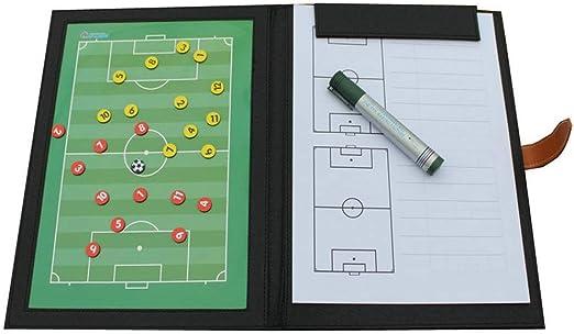 Tablero de marcadores del entrenador de juego de fútbol magnético plegable de fútbol estándar Tablero de marcadores duradero y confiable Guía de capacitación for el entrenamiento de artículos de fútbo: Amazon.es: Hogar