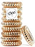 patented Painless PATENTED OOO Hair Ties. Ponytail holder spiral coil no traceless rubber bands. Best kids girls woman accessory all types of hair. Exercise, workouts & everyday. ASSORTED COLORS (Gold)