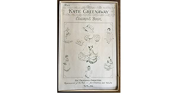 Kim\'s Kate Greenaway Coloring Book: Kate Greenaway: Amazon ...