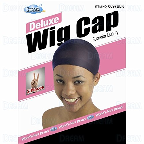 DREAM Deluxe Wig Cap Black 6 PACK (12 total pcs) (Model: 0097 (Black Wig Cap)