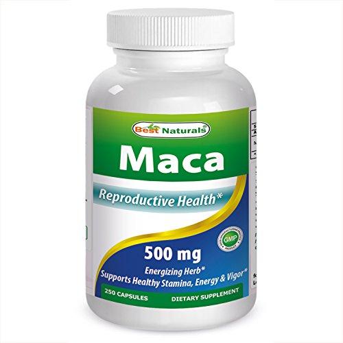 Meilleur Naturals Maca gélules, 500 mg, 250 comte