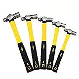 (O&HP) (5 Pc) Mechanic's Ball Pein Peen Hammer W/Handles New Unbreakable HD Construction