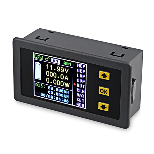 30 Button Display (VANJING DC 0-120V 0-30A Color LCD Display Digital Bi-directional Voltage Current Power Meter Ammeter Voltmeter Capacity Time Meter, Multimeter with Relay (DC 0-120V 0-30A))