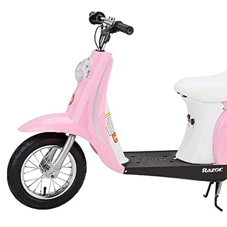 Amazon Com Razor Pocket Mod Miniature Euro V Electric Retro Scooter Pink  Electric Sports Scooters Sports Outdoors