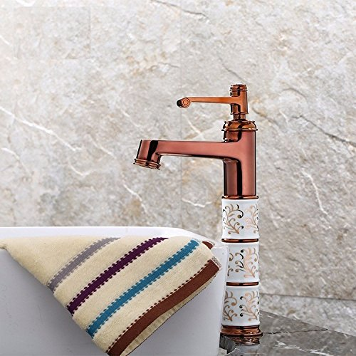 Tap-Sink Tap The Bathroom pink Face Basin Faucet Copper Bathroom Faucet