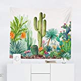 Cactus Tapestry Wall Hanging Desert Cacti Succulent Tapestries Dorm Room Bedroom Decor Art - Printed in the USA - Small to Giant Sizes