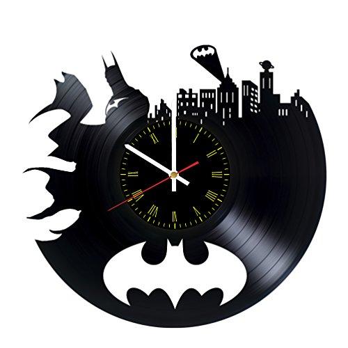 Handmade BATMAN gotham city Vinyl Record Wall Clock - Get unique garage or living room wall decor - Gift ideas for children, friends, mother and father - Interior Decor Vintage Unique Art Design