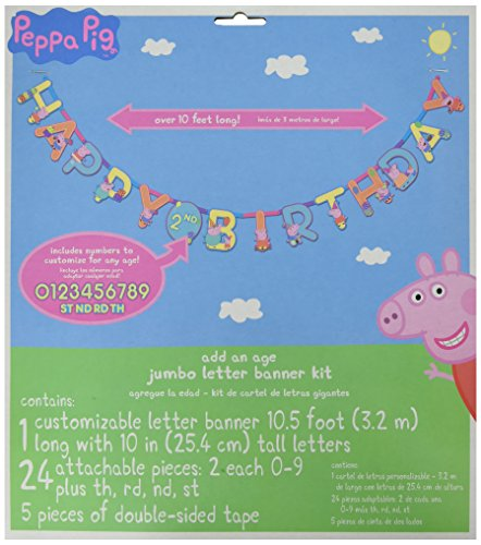 Pig Piece 10 (Amscan Birthday Jumbo Add-an-Age Letter Banner Paper x 10