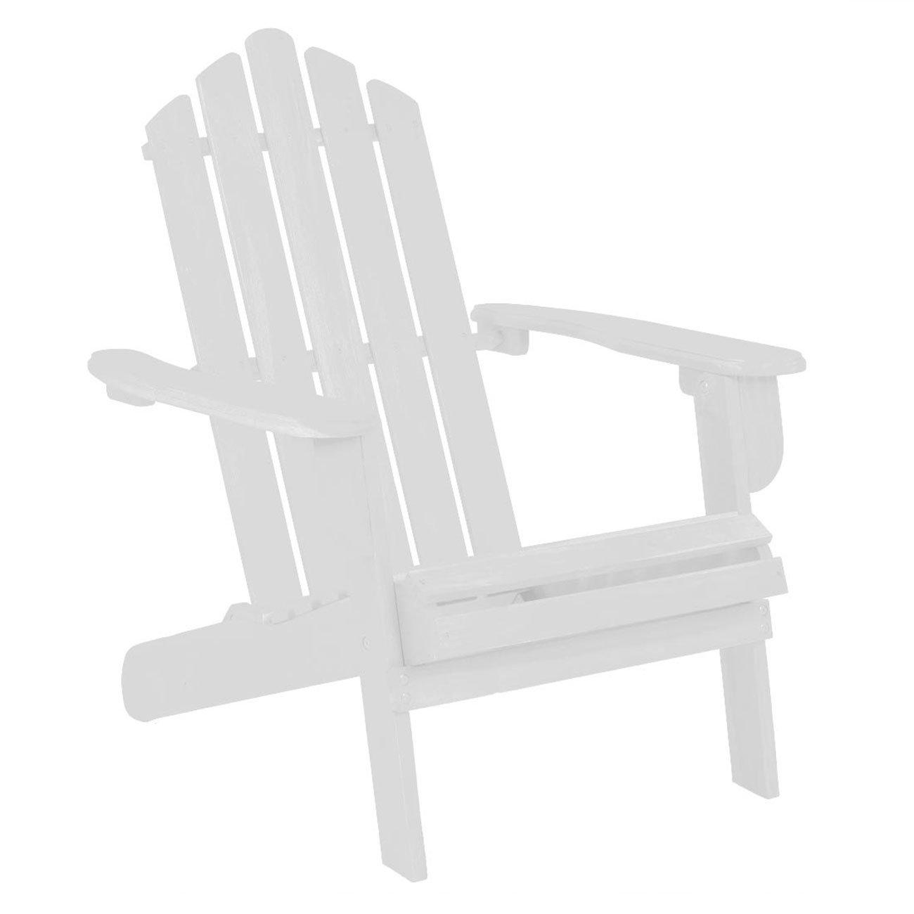 OUTLIV. Adirondack Stuhl Amerikanischer Gartenstuhl weiß Gartensessel klappbar Holz Akazie FSC Liegesessel Klappsessel
