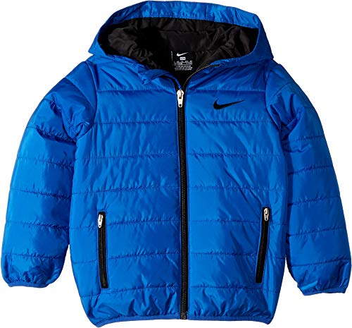 Nike Kids Boy's Quilted Jacket (Little Kids) Game Royal/Black 4 US Little Kid by Nike (Image #1)